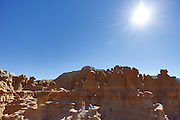 SHOT 10/19/16 1:43:41 PM - Emery County Utah tourism photos including hiking and exploring Goblin Valley including an arch rappel, the Black Dragon Canyon and  mountain biking Saucer Basin with Lamar Guymon. (Photo by Marc Piscotty / © 2016)