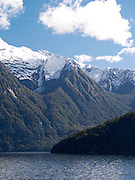 Scenes from a boat (Real Journeys) on Lake Manapouri, near Manapouri, Southland, New Zealand; 22 Sept 2012