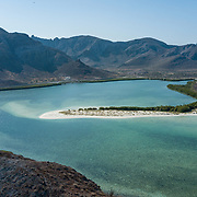Aerial view of Balandra Bay. La Paz, BCS.