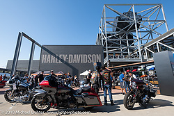 Harley-Davidson Museum, where the multi-acre campus acted as the central rally point during the Harley-Davidson 115th Anniversary Celebration event. Milwaukee, WI. USA. Thursday August 30, 2018. Photography ©2018 Michael Lichter.
