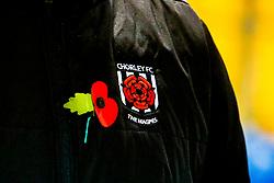 Chorley FC badge - Mandatory by-line: Ryan Crockett/JMP - 09/11/2019 - FOOTBALL - One Call Stadium - Mansfield, England - Mansfield Town v Chorley - Emirates FA Cup first round