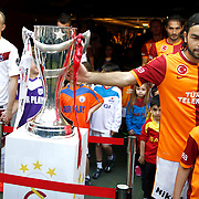 Galatasaray's Selcuk Inan (R) during their Turkish superleague soccer derby match Galatasaray between Trabzonspor at the AliSamiYen spor kompleksi TT Arena in Istanbul Turkey on Saturday, 18 May 2013. Photo by Aykut AKICI/TURKPIX