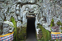 Goa Gajah, commonly known as the Elephant Cave, is located in a steep valley just outside of Ubud near the village of Bedulu.  Built at least 700 years ago the cave was rediscovered in the 1920s.