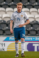 Egor Shapovalov celebrates his goal with his team mates during the U17 European Championships match between Scotland and Russia at Simple Digital Arena, Paisley, Scotland on 23 March 2019.