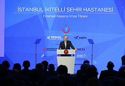 July 21, 2017 - Istanbul, Turkey - July 21, 2017 - Istanbul, Turkey - Turkey's President Recep Tayyip Erdogan speaks during a meeting in Istanbul, Friday, July 21, 2017. Erdogan has accused Germany's government of trying to scare off investments to Turkey with lies, after Germany toughened its stance toward Ankara following the arrest of human rights activists, including a German national. (Credit Image: © Depo Photos via ZUMA Wire)
