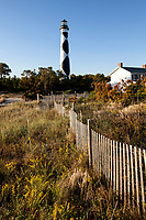 NC00888-00...NORTH CAROLINA - Cape Lookout Lighthouse and Keepers House in Cape Lookout National Seashore.