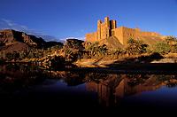 Maroc - Haut Atlas - Vallée du Drâa - Kasbah ou Ksar de Aït Hamou ou Saïd
