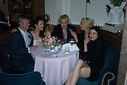 CLEO ROCOS; NICK RHODES; AMANDA ELIASCH; NEFER SUVIO,  Nicky Haslam hosts dinner at  Gigi's for Leslie Caron. 22 Woodstock St. London. W1C 2AR. 25 March 2015