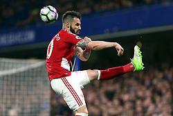 8 May 2017 - Premier League Football - Chelsea v Middlesbrough<br /> Alvaro Negredo of Boro clears the ball<br /> Photo: Charlotte Wilson