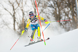 """Frida Hansdotter (SWE) during FIS Alpine Ski World Cup 2016/17 Ladies Slalom race named """"Snow Queen Trophy 2017"""", on January 3, 2017 in Course Crveni Spust at Sljeme hill, Zagreb, Croatia. Photo by Žiga Zupan / Sportida"""