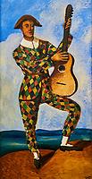 France, Paris (75), zone classée Patrimoine Mondial de l'UNESCO, les Tuileries, le musée de l'Orangerie, André Derain, Arlequin à la guitare, 1924 // France, Paris, les Tuileries, museum of Orangerie, André Derain, Arlequin à la guitare, 1924