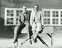 1921 Douglas and Robert Florey at Clune Studios on Melrose Ave. & Bronson Ave.
