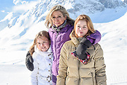 Fotosessie met de koninklijke familie in Lech /// Photoshoot with the Dutch royal family in Lech .<br /> <br /> Op de foto/ On the photo:  Koningin Maxima, Prinses Alexia en Prinses Ariane ///// Queen Maxima, Princess Alexia and Princess Ariane