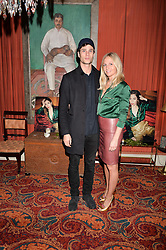 Eddie Wrey & Maddie Chesterton at a party to launch the Barr & Bass 'Aya' brand at Mark's Club, 46 Charles Street, Mayfair, London England. 14 December 2016.