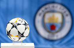 A general view of the UEFA Champions League match ball - Mandatory by-line: Matt McNulty/JMP - 10/04/2018 - FOOTBALL - Etihad Stadium - Manchester, England - Manchester City v Liverpool - UEFA Champions League Quarter Final Second Leg