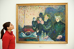 Death Struggle by Edvard Munch at Statens Museum for Kunst or Royal Museum of Fine Arts in Copenhagen Denmark