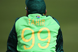 June 28, 2019 - Chester Le Street, County Durham, United Kingdom - South Africa's Imran Tahir during the ICC Cricket World Cup 2019 match between Sri Lanka and South Africa at Emirates Riverside, Chester le Street on Friday 28th June 2019. (Credit Image: © Mi News/NurPhoto via ZUMA Press)