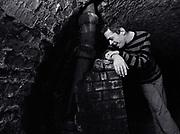 Ian Dury in the  Basement London 1980