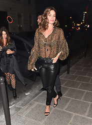 Bella Hadid is seen clubbing with Cindy Crawford and Jesse Jo Stark along with Jordan Barrett at Le Carmen nightclub in Paris<br /><br />26 September 2018.<br /><br />Please byline: Vantagenews.com