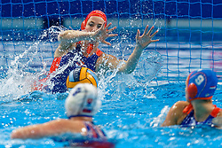 21-01-2020 HUN: European Water polo Championship, Budapest <br /> Slovakia - Netherlands 2—32 / Joanne Koenders #1 of Netherlands during LEN European Aquatics Waterpolo on January 21, 2020. SVK vs Netherlands in Duna Arena in Budapest, Hungary