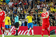 Paulinho of Brazil celebrates his goal during the 2018 FIFA World Cup Russia, Group E football match between Erbia and Brazil on June 27, 2018 at Spartak Stadium in Moscow, Russia - Photo Thiago Bernardes / FramePhoto / ProSportsImages / DPPI