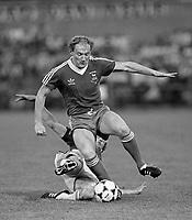 Fotball<br /> England <br /> Foto: Colorsport/Digitalsport<br /> NORWAY ONLY<br /> <br /> Alan Brazil (Ipswich) AZ Alkmaar v Ipswich Town. 1980/81.UEFA Cup Final 2nd leg. 20/5/1981