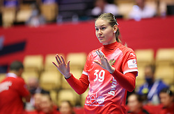 HERNING, DENMARK - DECEMBER 3, 2020: Antonia Skorobogatchenko of Russia during the EHF Euro 2020 Group C match between Russia and Spain in Jyske Bank Boxen, Herning, Denmark on December 3 2020. Photo Credit: Allan Jensen/EVENTMEDIA.