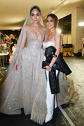 Araya Hartgate and Cheryl Cole pose backstage after the Georges Hobeika Haute Couture Fall/Winter 2019 2020 show as part of Paris Fashion Week on July 01, 2019 in Paris, France. Photo by Laurent Zabulon / ABACAPRESS.COM