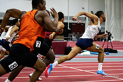 Harvard University<br /> Crimson Elite Indoor track & field meet<br /> mens 60m hurdles,