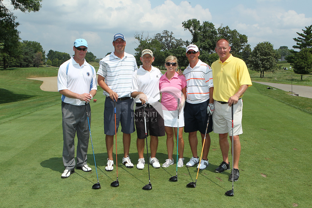 Groups participating in the Magnolia Health Wolf Challenge presented by Fuzzy's Vodka Pro Am Shamble at Brickyard Crossing Golf Course in Indianapolis, Indiana. .Corporate Event photography by Michael Hickey, Infiniti Images