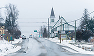 A wintery day in the mountain town of Kaslo, British Columbia