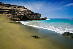 Green Sand Beach, Mahana Bay, South Point, Big Island, Hawaii, Pacific Ocean