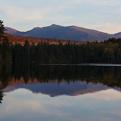 Pond of Safety in the Randolph Community Forest. in New Hampshire's White Mountains. Fall. Northern Presidential Range.
