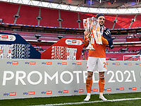 Blackpool's Luke Garbutt <br /> <br /> Photographer Andrew Kearns/CameraSport<br /> <br /> The EFL Sky Bet League One Play-Off Final - Blackpool v Lincoln City - Sunday 30th May 2021 - Wembley Stadium - London<br /> <br /> World Copyright © 2021 CameraSport. All rights reserved. 43 Linden Ave. Countesthorpe. Leicester. England. LE8 5PG - Tel: +44 (0) 116 277 4147 - admin@camerasport.com - www.camerasport.com