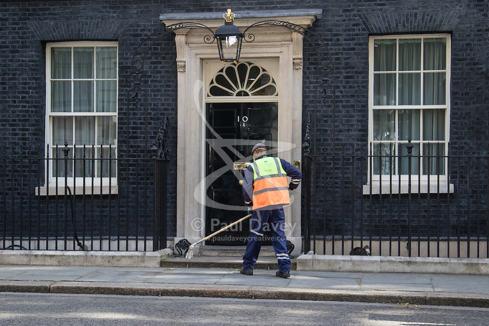 A new broom sweeps clean at Downing Street as Home Secretary Theresa May takes over on Wednesday July 13th from Prime Minister David Cameron