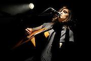 Joanna Levine performs at Sullivan Hall in New York City on December 7, 2008.