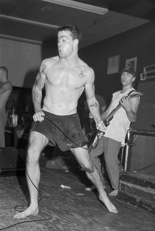 ALLENTOWN - NOVEMBER 3: Rollins Band singer Henry Rollins performs at Airport Music Hall on November 3, 1990, in Allentown, Pennsylvania. ©Lisa Lake