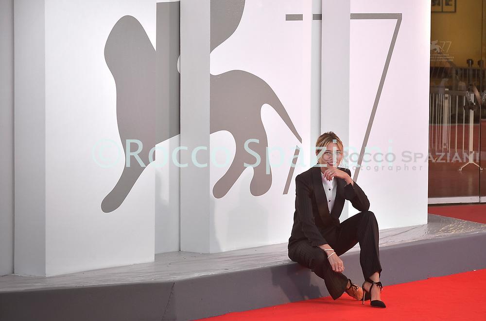VENICE, ITALY - SEPTEMBER 01: Anna Foglietta attends the photocall of the Patroness of the 77th Venice Film Festival on September 01, 2020 in Venice, Italy  (Photo by Rocco Spaziani)