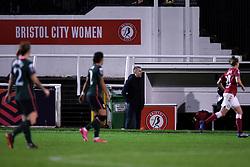 Interim manager Gary Probert during the match - Mandatory by-line: Ryan Hiscott/JMP - 14/11/2020 - FOOTBALL - Twerton Park - Bath, England - Bristol City Women v Tottenham Hotspur Women - Barclays FA Women's Super League