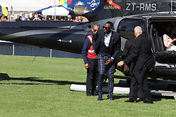 Usain Bolt arrives at the Sun Met. Celebs at tThe Met Races