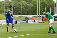 Ajdin Hasic of Bosnia and Herzegovina (10) prepares to take on Callum Thompson of Republic of Ireland (7) during the UEFA European Under 17 Championship 2018 match between Bosnia and Republic of Ireland at Stadion Bilino Polje, Zenica, Bosnia and Herzegovina on 11 May 2018. Picture by Mick Haynes.