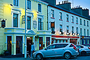 Guy's Bar and the Central Hotel in Clifden, Connemara, County Galway, Ireland