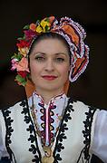 Plovdiv, BULGARIA. Traditional  Bulgarian Head Wear, Hat.  2015 FISA U23 Championships. 26.07.2015. Sunday, Finals Day. [Mandatory Credit: Peter SPURRIER/Intersport Images]
