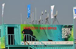 The Race Office for the Korea Match Cup. Photo:Chris Davies/WMRT