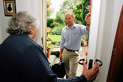 Nurse practioner visiting an elderly patient at home West Yorkshire UK