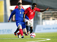 Fotball , 28. april 2011 , U19 , WC. qual.<br /> Norge - Moldova<br /> Norway -Moldova 4-0<br /> <br />  Mushaga Bakenga (10) , , Norge<br /> Eugen Zhsavitchi , Moldova