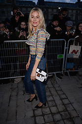Sienna Miller arriving at the Louis Vuitton show as part of the Paris Fashion Week Womenswear Fall/Winter 2018/2019 in Paris, France on March 6, 2018. Photo by Julien Reynaud/APS-Medias/ABACAPRESS.COM