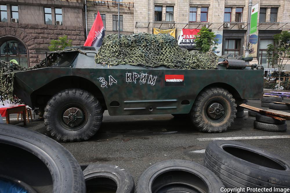 Ukraine Diary: Bohdan Warchomij Wednesday 22 May 2014 Khrestiatik  Kyiv as war museum. The legacy of the Ukrainian Revolution. Photo Bohdan Warchomij