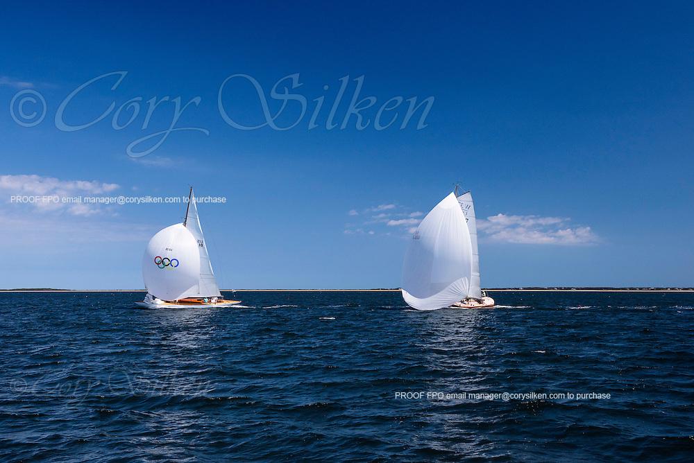 Angelita and Race Horse sailing in the Sail Nantucket Regatta.