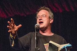 © Licensed to London News Pictures . 20/07/2013 . Suffolk , UK . Robin Ince on the comedy stage . The Latitude music and culture festival in Henham Park , Southwold . Photo credit : Joel Goodman/LNP